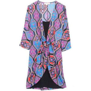 Mara Hoffman Kilim layered silk lounge dress